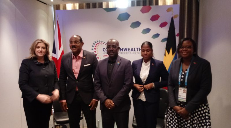 Hon. Gaston Browne holds bilateral with Hon. Penny Mordaunt, UK Development Secretary