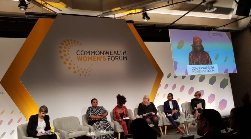 Hon. Maria Browne MP speaks at Commonwealth Women's Forum