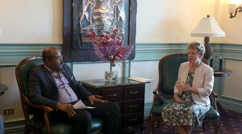 British High Commissioner Pays Courtesy Call on PM Browne