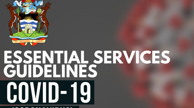 Essential Services Guidelines for Antigua and Barbuda: COVID-19 (Coronavirus) Preventative Measures