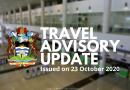 Antigua & Barbuda Travel Advisory as of 24 October 2020
