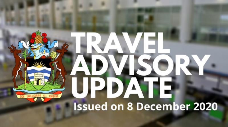 Antigua & Barbuda Travel Advisory as of 8 December 2020