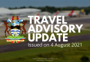 Antigua & Barbuda Travel Advisory as of 4 August 2021